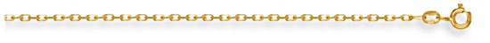 Gold chain 28 inch High polish 9ct gold 1.6mm belcher diamond cut, 3.5 grams.