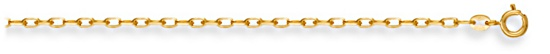 Gold chain 28 inch High polish 9ct gold 2.2mm belcher diamond cut, 7.2 grams.