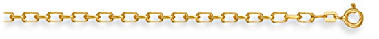 Gold chain 28 inch High polish 9ct gold 3.0mm belcher diamond cut, 12.7 grams.