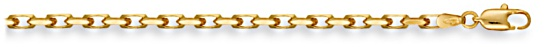 Gold chain 28 inch High polish 9ct gold 3.7mm belcher diamond cut, 22.3 grams.