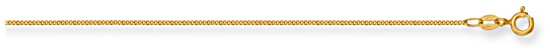 Gold chain 20 inch High polish 9ct gold 1mm x 0.6mm curb classic, 1.7 grams.