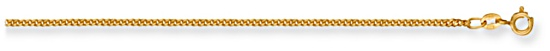 Gold chain 20 inch High polish 9ct gold 1.7mm x 0.9mm curb classic, 4.5 grams.